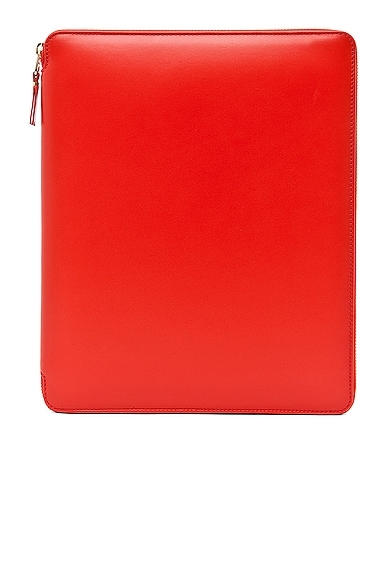 Comme Des Garcons Luxury Leather iPad Case in Orange