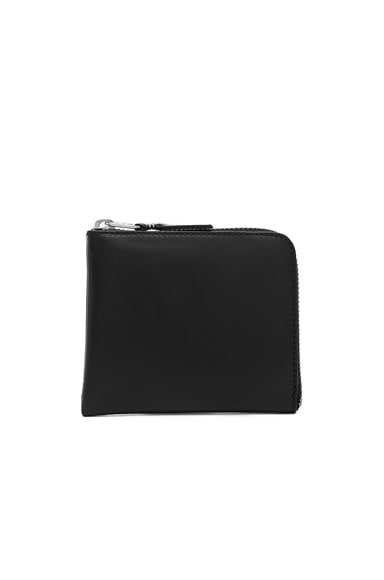 Comme Des Garcons Small Zip Wallet in Black