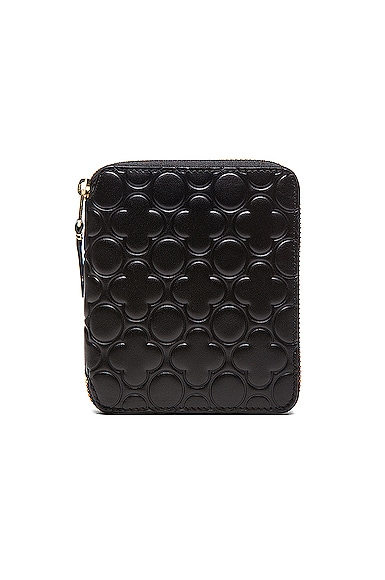 Comme Des Garcons Star Embosed Classic Wallet in Black