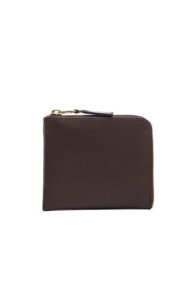 Comme Des Garcons Small Zip Wallet in Brown