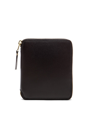 Comme Des Garcons Zip Fold Wallet in Black
