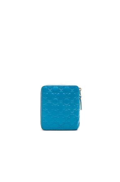 Clover Embossed Zip Fold Wallet