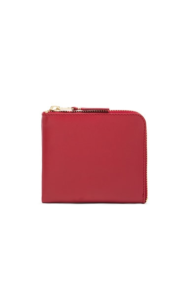 Comme Des Garcons Classic Small Zip Wallet in Red