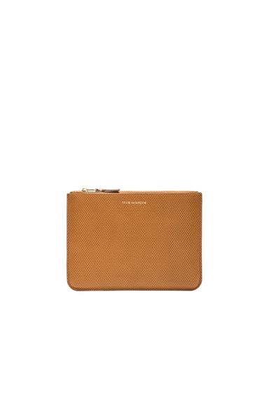 Comme Des Garcons Luxury Leather Pouch in Beige