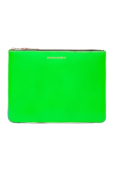 Comme Des Garcons Super Fluo Pouch in Blue & Green