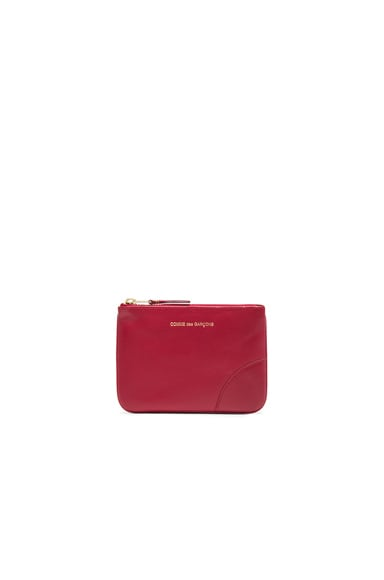 Comme Des Garcons Classic Small Pouch in Red