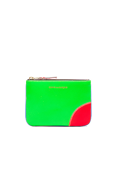 Comme Des Garcons Super Fluo Small Pouch in Blue & Green