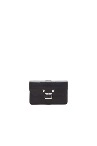 Comme Des Garcons Small 3 Pocket Buckle Wallet in Black