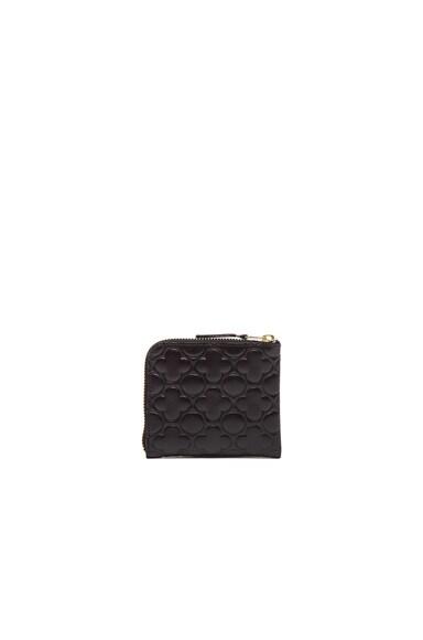 Clover Embossed Small Zip Wallet