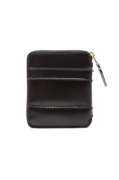 Raised Spike Zip Fold Wallet