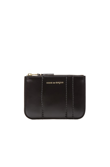 Comme Des Garcons Raised Spike Small Pouch in Black