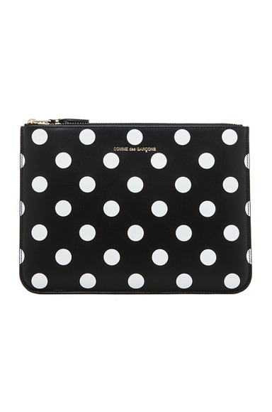 Comme Des Garcons Polka Dot Pouch in Black