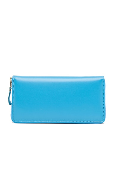 Comme Des Garcons Classic Long Wallet in Blue