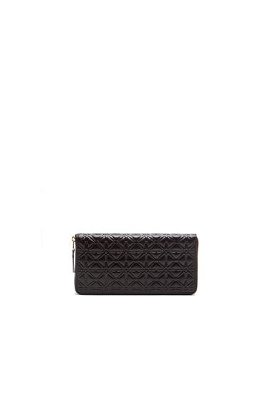 Comme Des Garcons Long Star Embossed Wallet in Black