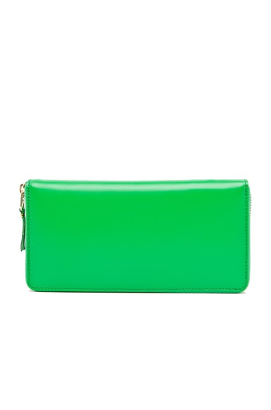 Comme Des Garcons Classic Long Wallet in Green