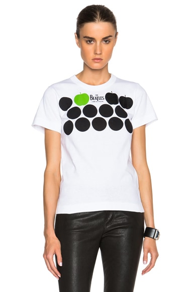 The Beatles x Comme Des Garcons Circle Logo Cotton Tee in White
