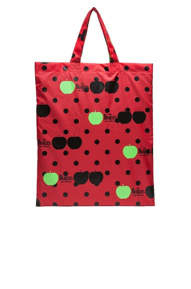 The Beatles x Comme Des Garcons Printed Tote in Red
