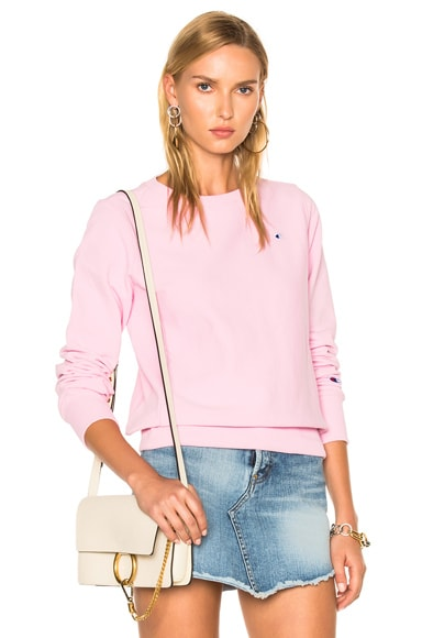 Champion Crewneck Sweatshirt in Pink