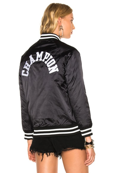 Champion Bomber Jacket in Black