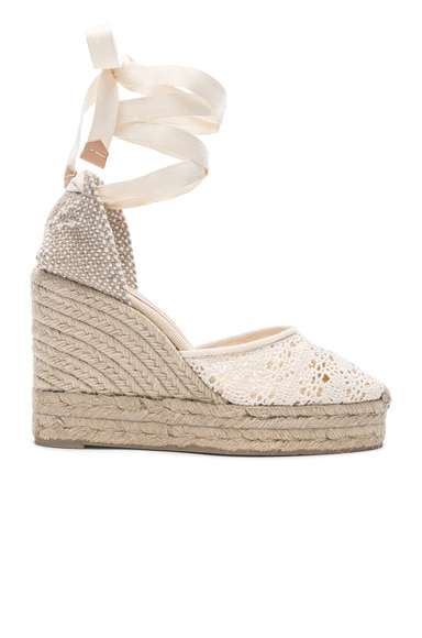Crochet Lace Carina Wedge Espadrilles
