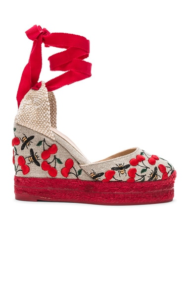 Embroidered Canvas Carina Espadrilles
