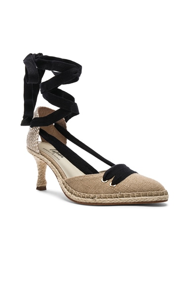 x Manolo Blahnik Canvas By Day Espadrille Heels