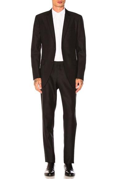 Wool Mohair Plain Weave Suit