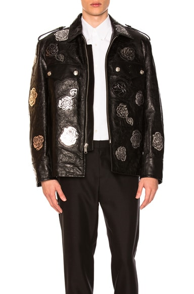 Embossed Leather Jacket