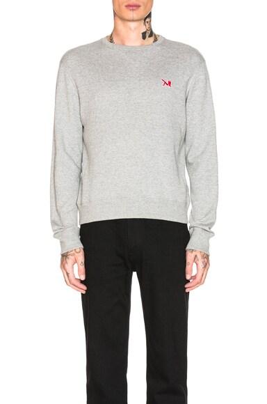French Terry Crew Neck Sweatshirt
