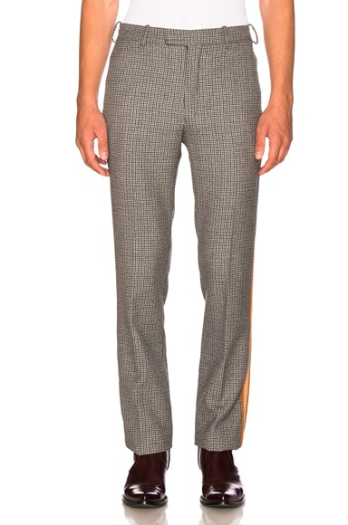 Fancy Wool Check Marching Band Pants