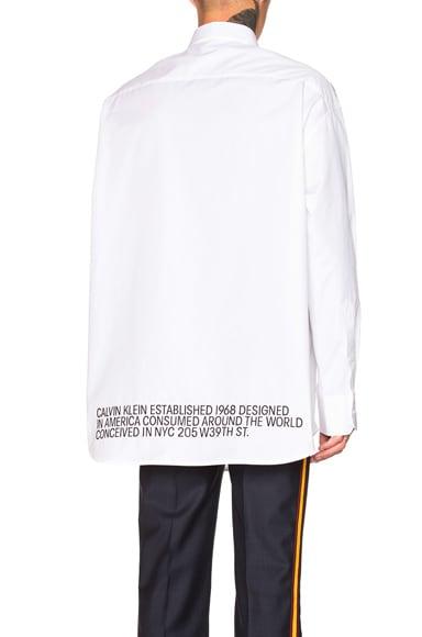 Script Button Down Shirt
