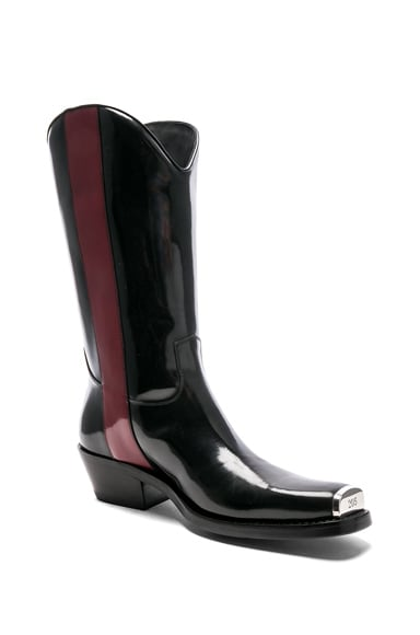 Leather Ed Western Boots