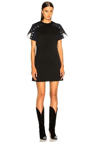 Snap Cape Sleeve Mini Dress