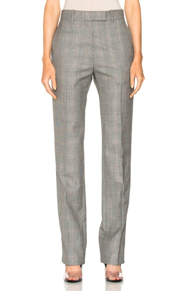 Glen Plaid Fine Worsted Wool Trousers