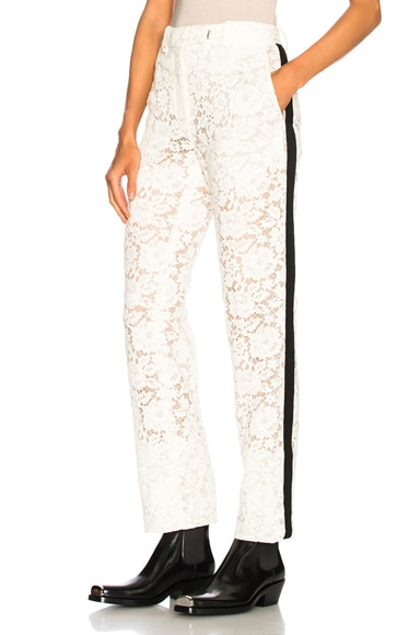 Cotton Viscose Lace Trousers