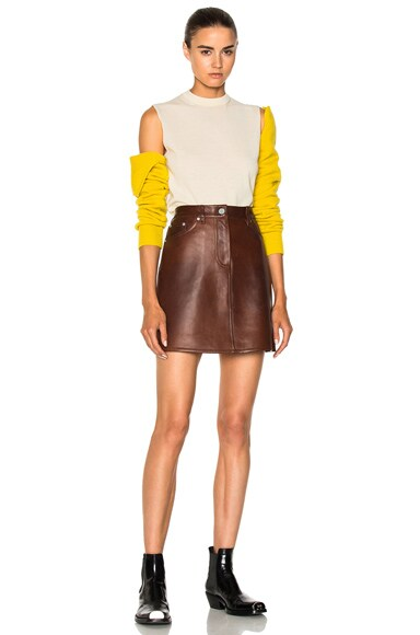 Bonded Plonge Leather Skirt