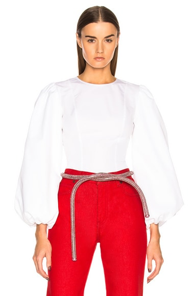 High Twisted Cotton Popeline Blouse