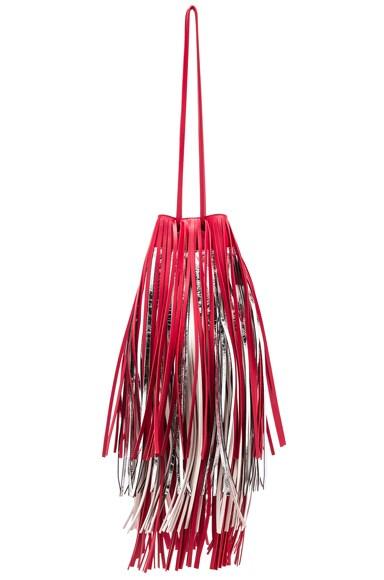 Short Fringe Bucket Bag