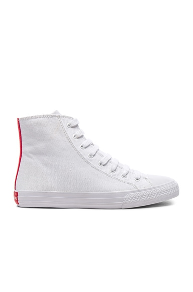Printed High-Top Sneakers in White