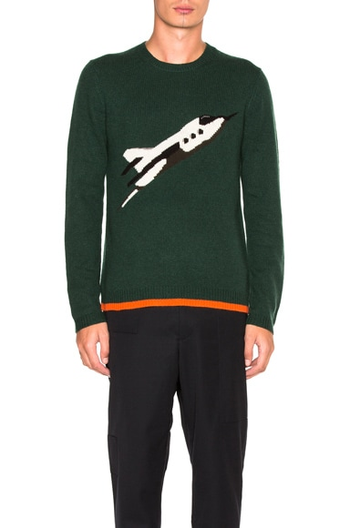 Coach 1941 Rocket Ship Crew Neck Sweater in Pine