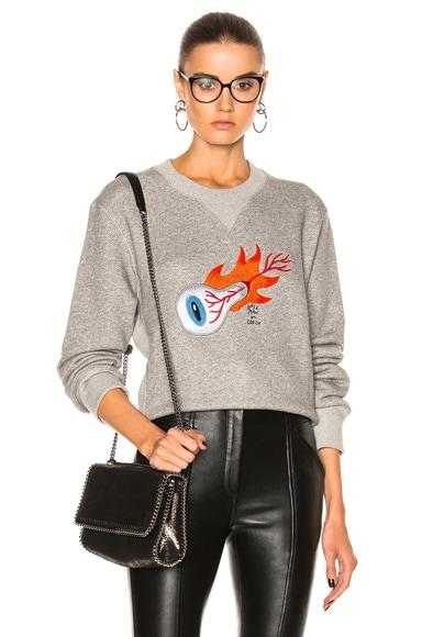 Embroidered Wild Eye Sweatshirt