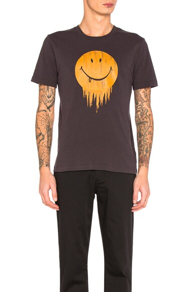 Coach 1941 Gnarly Face Tee in Black & Yellow