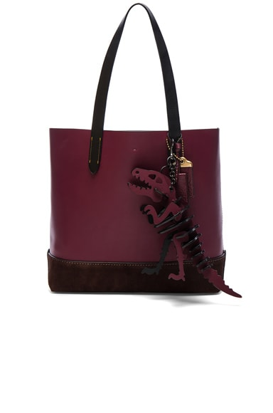 Coach 1941 Gotham Tote with T Rex Charm in Burgundy