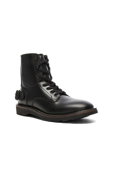 Coach 1941 Leather Combat Boots in Black