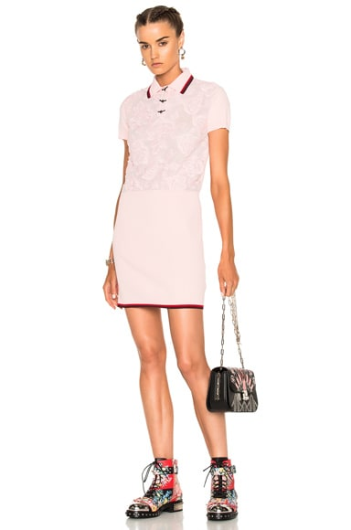 Rose Lace Polo Sweater Dress