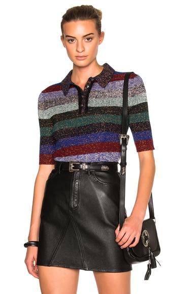 Coach 1941 Lurex Polo Sweater in Multi