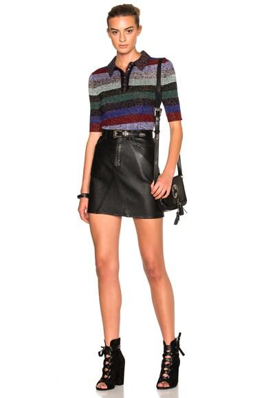 Lurex Polo Sweater
