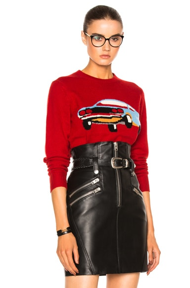 Coach 1941 Cashmere Car Sweater in Red