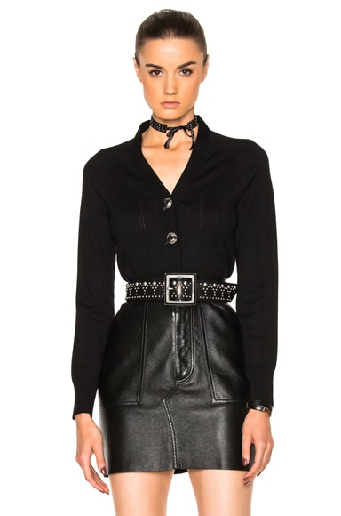 Coach 1941 Concho Cardigan in Black