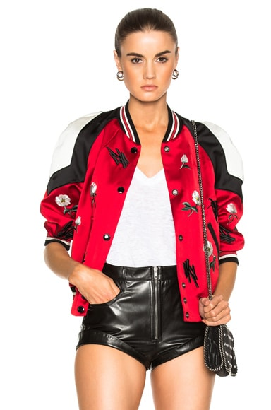 Coach 1941 Shrunken Varsity Jacket in Cardinal